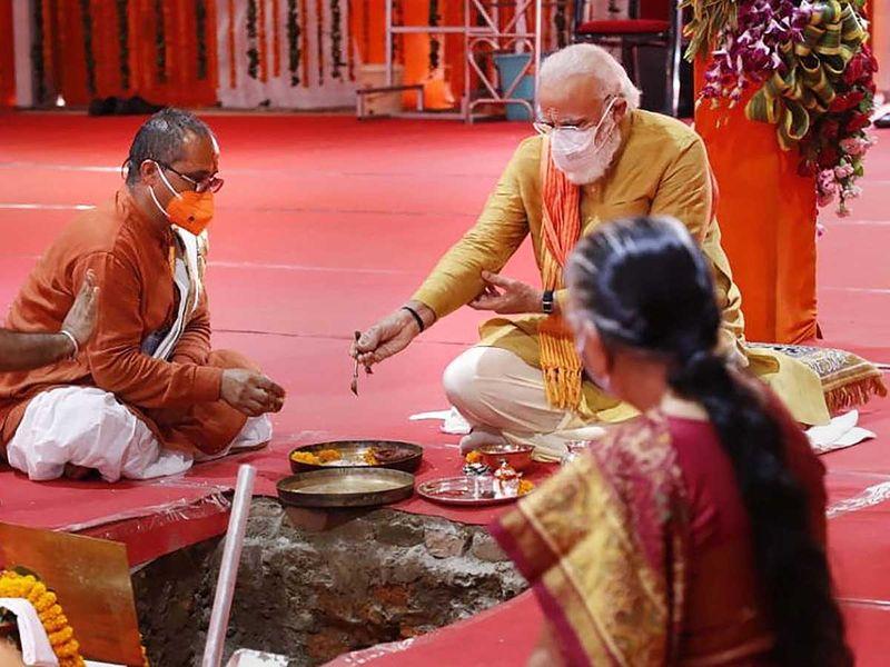 Modi Ayodhya temple  UP Governor Anandiben Patel