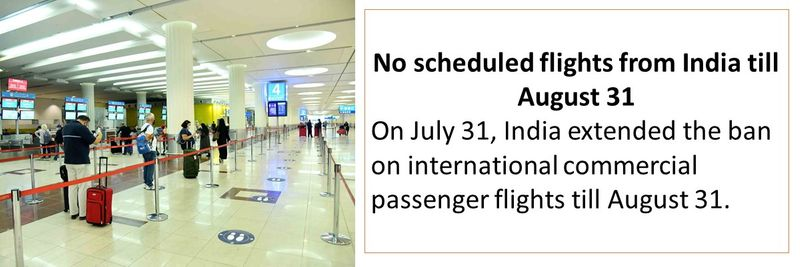 No scheduled flights from India till August 31