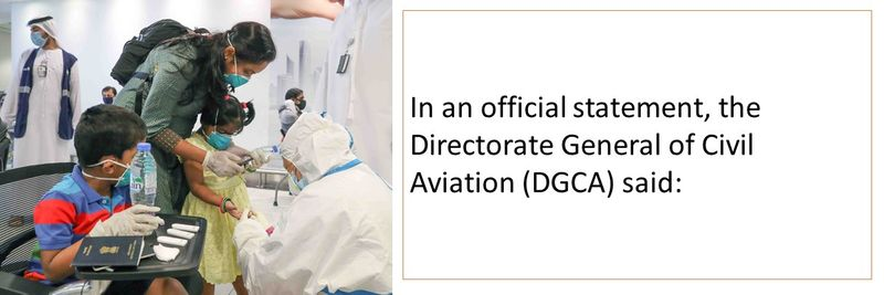 Official statement by the Directorate General of Civil Aviation (DGCA)