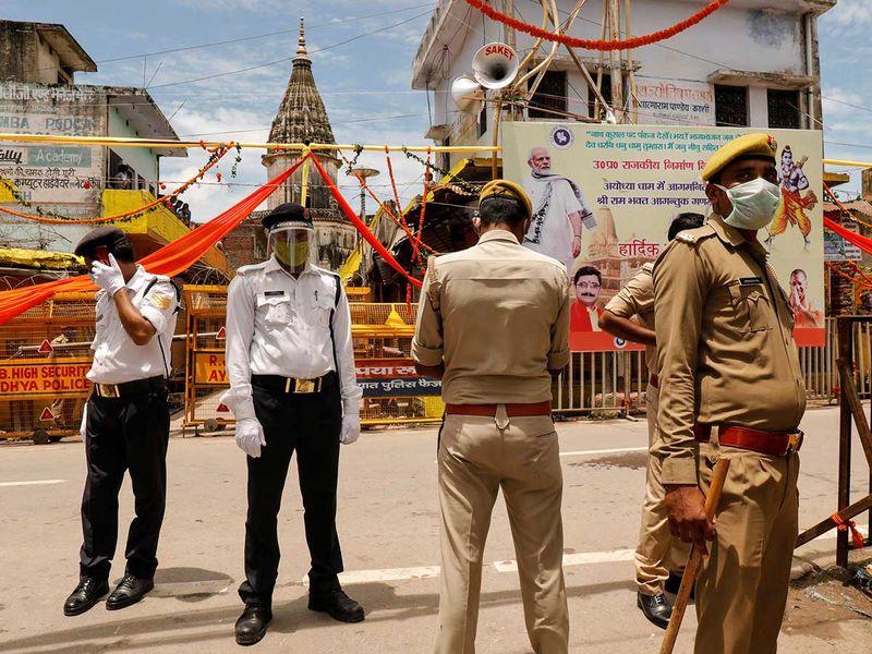 Policemen modi ayodhya temple