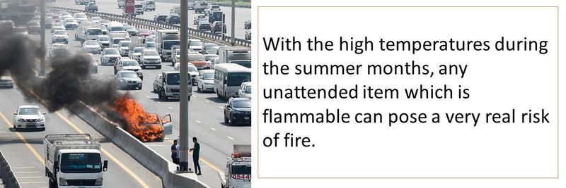 Any unattended item which is flammable can pose a very real risk of fire.
