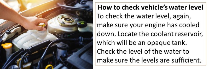 How to check vehicle's water level