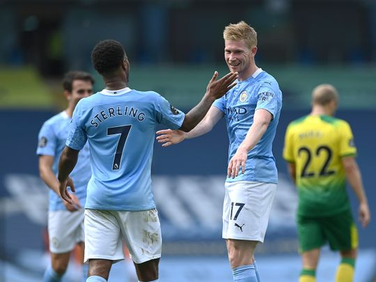 Manchester City will he hoping for more celebrations against Real Madrid