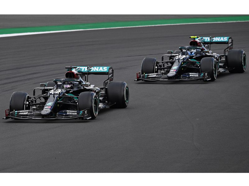 Mercedes' Hamilton and Bottas have dominated every race so far this season