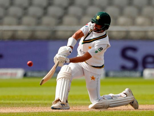 Pakistan's Shan Masood on his way to a century against England