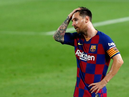 Lionel Messi may be one game away from Barcelona departure