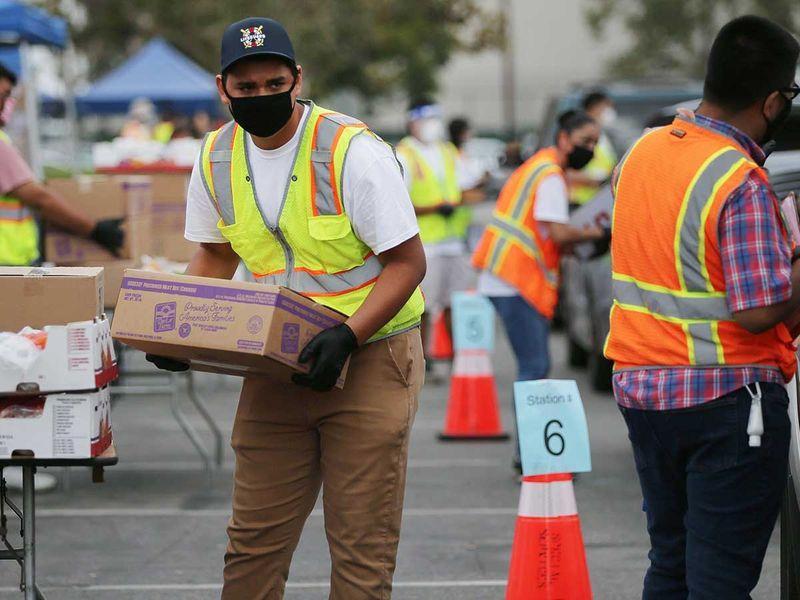 Los Angeles Food Bank US coronavirus