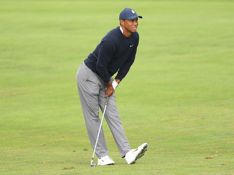 Tiger Woods had a long day at the PGA Championship