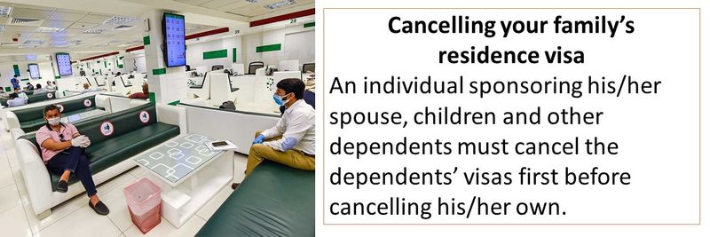 Cancelling your family's residence visa