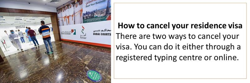 How to cancel your residence visa