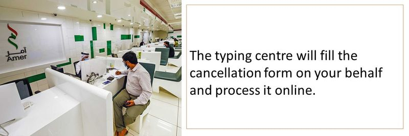 How typing centres apply for visa cancellation