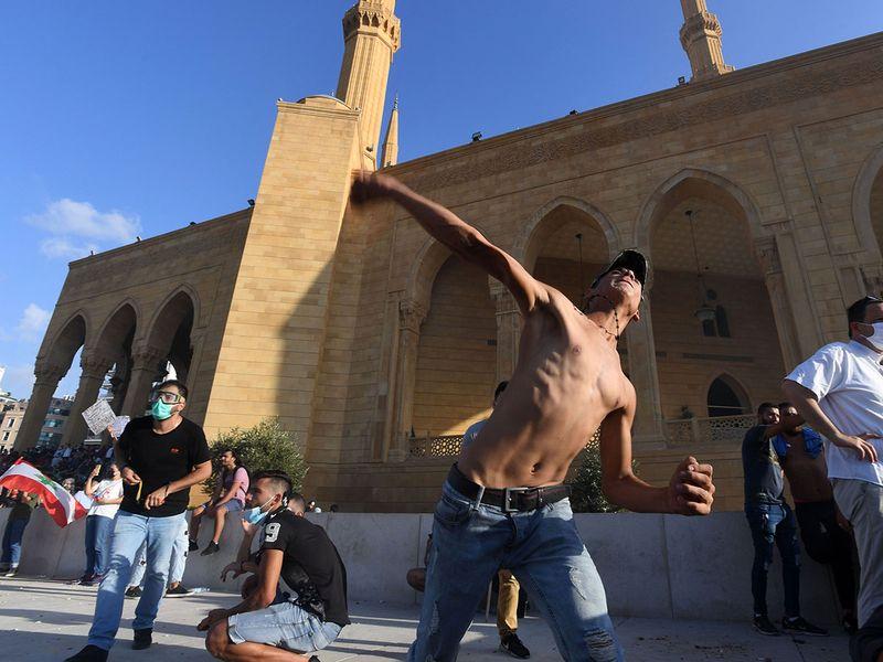 Lebanon protester