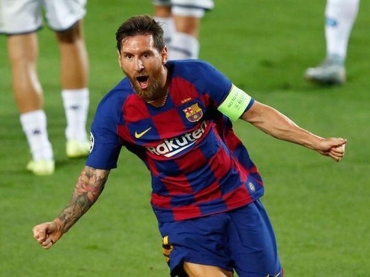 Lionel Messi saw Barcelona past Napoli