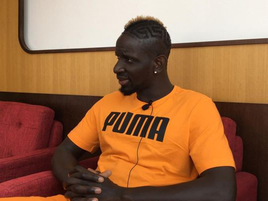 Mamadou Sakho speaks at the Fifa Medical Centre of Excellence in Dubai