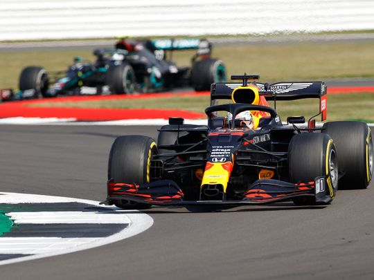 Max Verstappen held off Lewis Hamilton and Valtteri Bottas to win at Silverstone for the 70th Anniversary Grand Prix