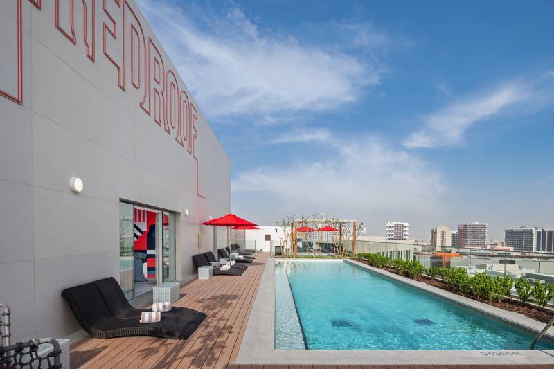 Radisson Red pool Silicon Oasis