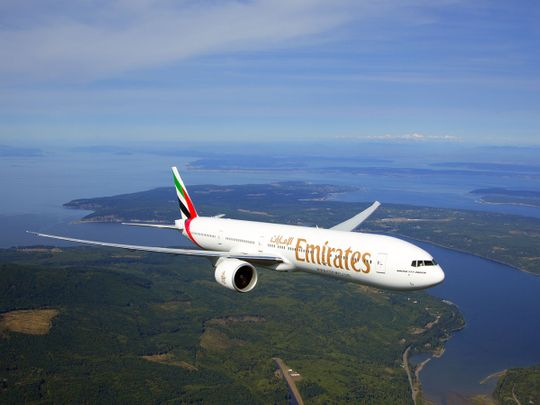 Stock Emirates airlines aircraft