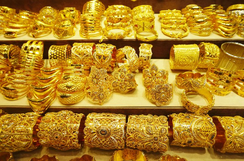 Stock gold Dubai