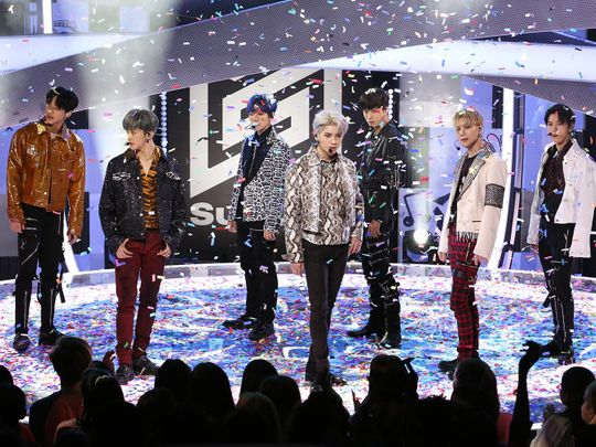 TAB 200809-2 SuperM L to R – Lucas, Mark, Baekhyun, Taeyong, Kai, Taemin and Ten-1596961039101