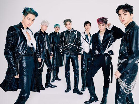 TAB 200809 SuperM 1 L to R – Kai, Baekhyun, Lucas, Taemin, Ten, Taeyong, and Mark-1596961036840