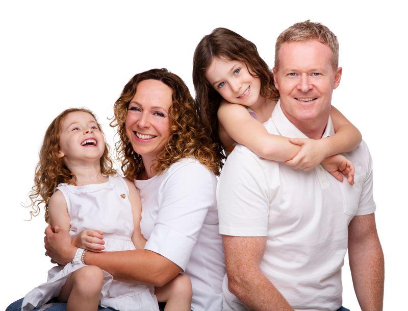 Tracy Preston and family