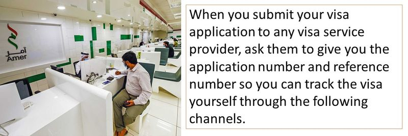 When you submit your visa application to any visa service provider, ask them to give you the application number and reference number