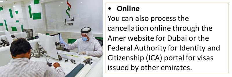 You can also apply for visa cancellation online