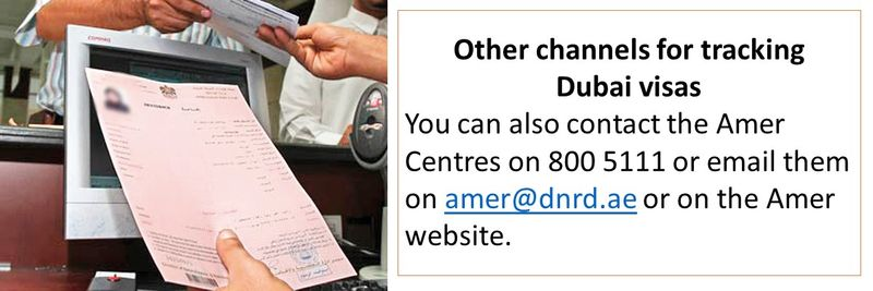 You can also call Amer on 800 5111 or email amer@dnrd.ae