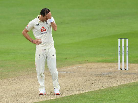 James Anderson struggled against Pakistan