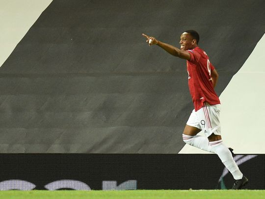 Manchester United defeated LASK in the last 16 of the Europa League