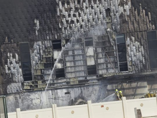 NAT 200810 Dubai Duty Free warehouse FIRE-1597061389842