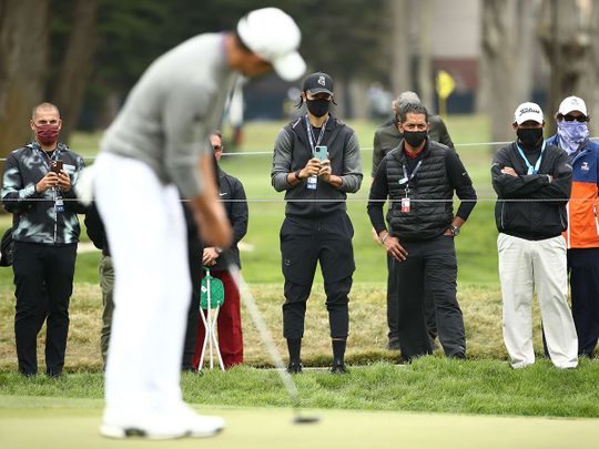NBA star watches Collin Morikawa in action at the PGA Championship
