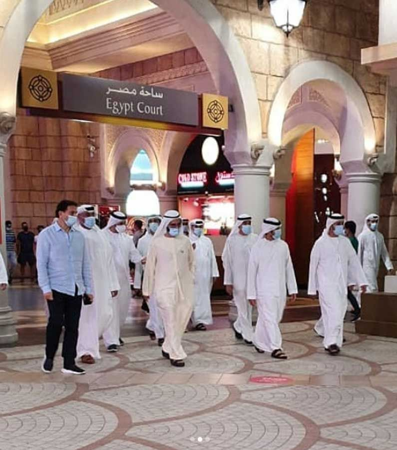 Sheikh Mohammed pays a surprise visit