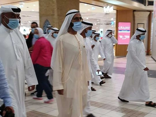 Sheikh Mohammed paid a surprise visit to Ibn Battuta Mall