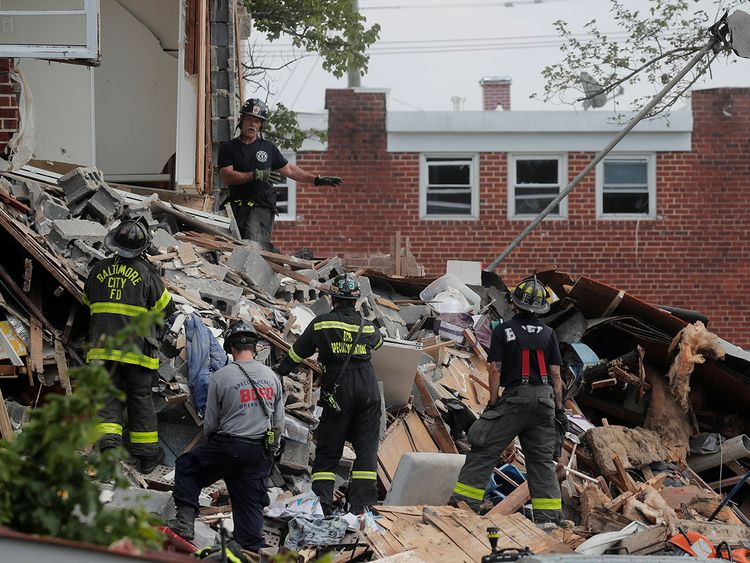 1 dead and 6 injured of gas explosion in Baltimore