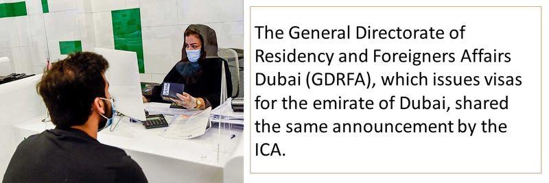 Dubai issued visas