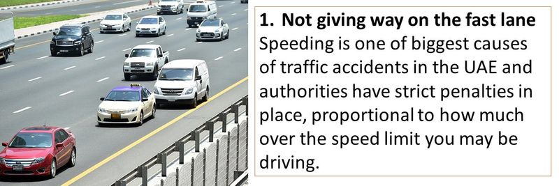 Speeding is one fo the biggest causes of traffic accidents in the UAE