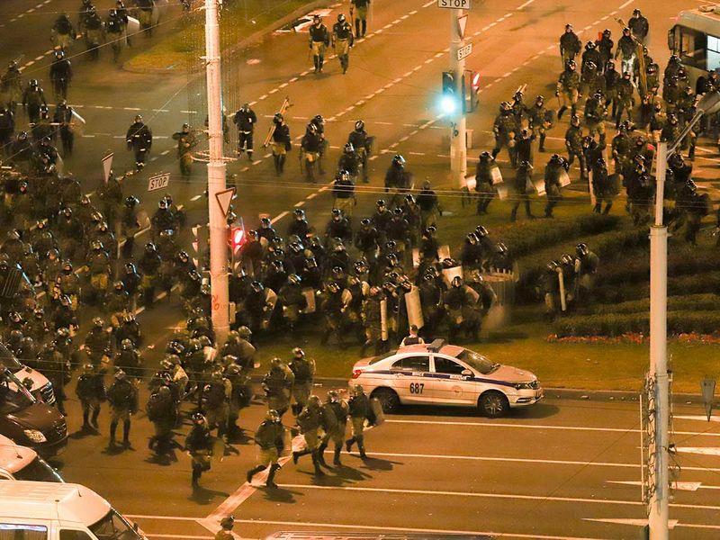 Belarus protest police