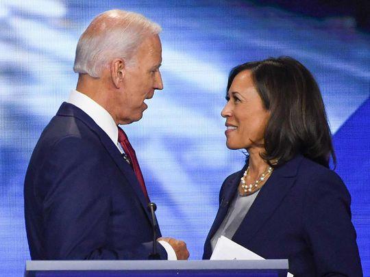 Former Vice-President Joe Biden and Senator Kamala Harris