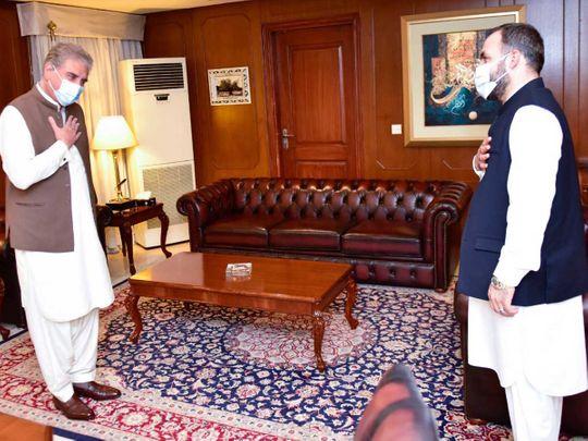 Ambassador of Afghanistan Shukrullah Atif Mashal Pakistan's Foreign Minister Shah Mahmood Qureshi
