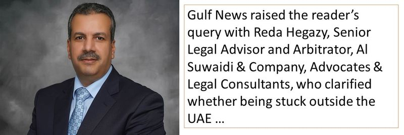 Fired for not being able to return to the UAE