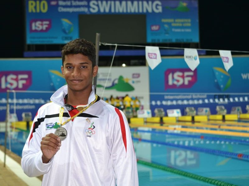 India's Dubai teen swimmer Tanish George Mathew