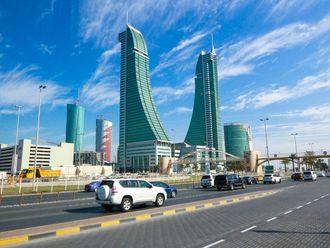 Stock Bahrain Manama skyline