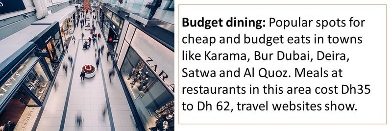 Tips to save when travelling in Dubai on a budget