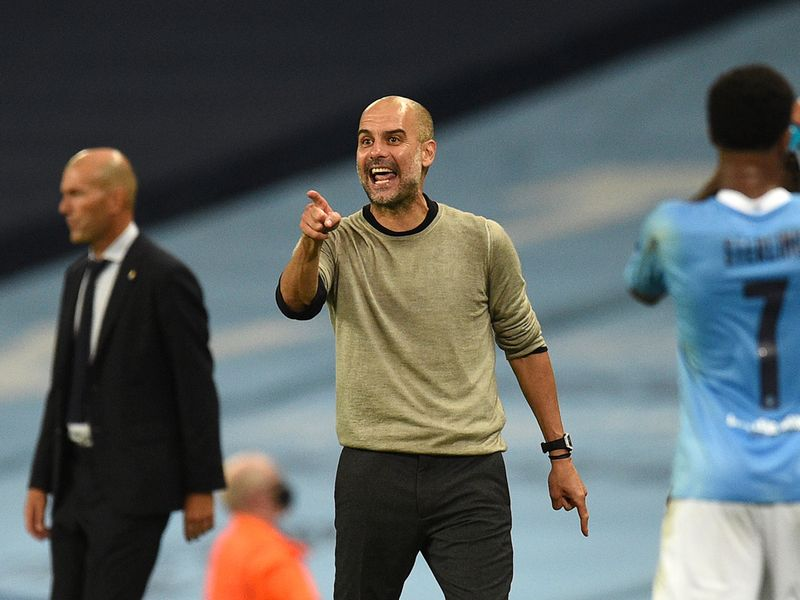 Pep Guardiola was calling the shots for Manchester City against Real Madrid
