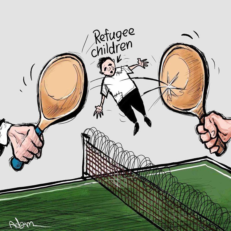 6 Refugees Cartoon August 15