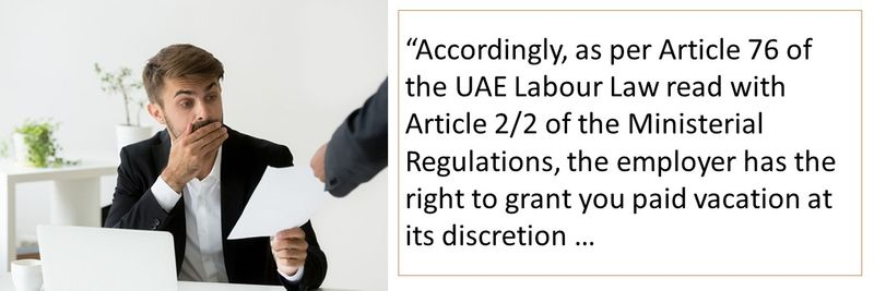 Based on the two regulations, employer has the right to grant annual leave at his discretion.