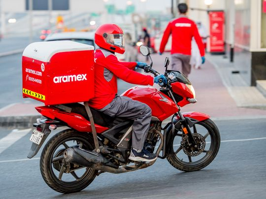 Stock Aramex courier Dubai