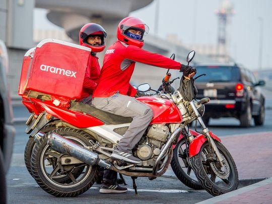 Stock Aramex courier Dubai