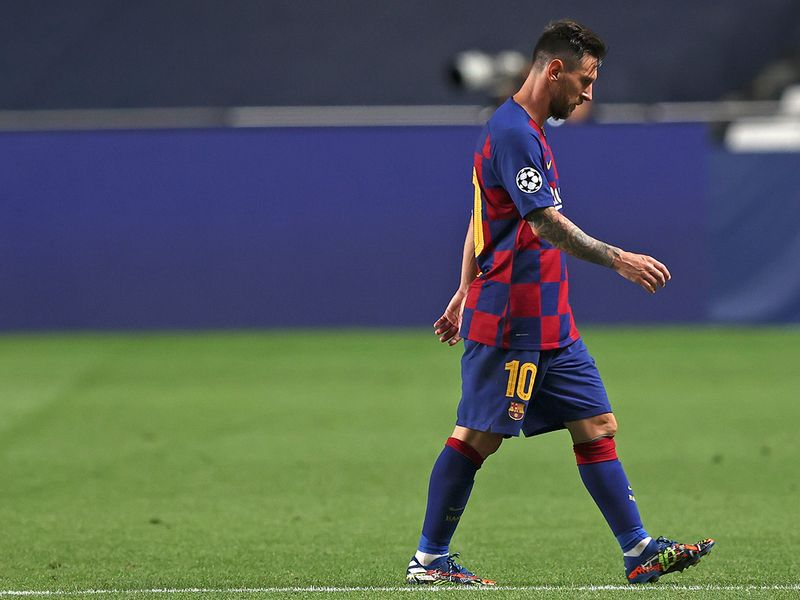 Lionel Messi is heading for the Barcelona exit after Bayern humiliation